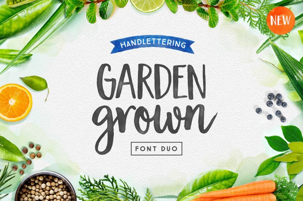 handlettering font duo
