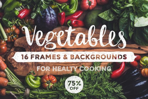 vegetables frames and backgrounds