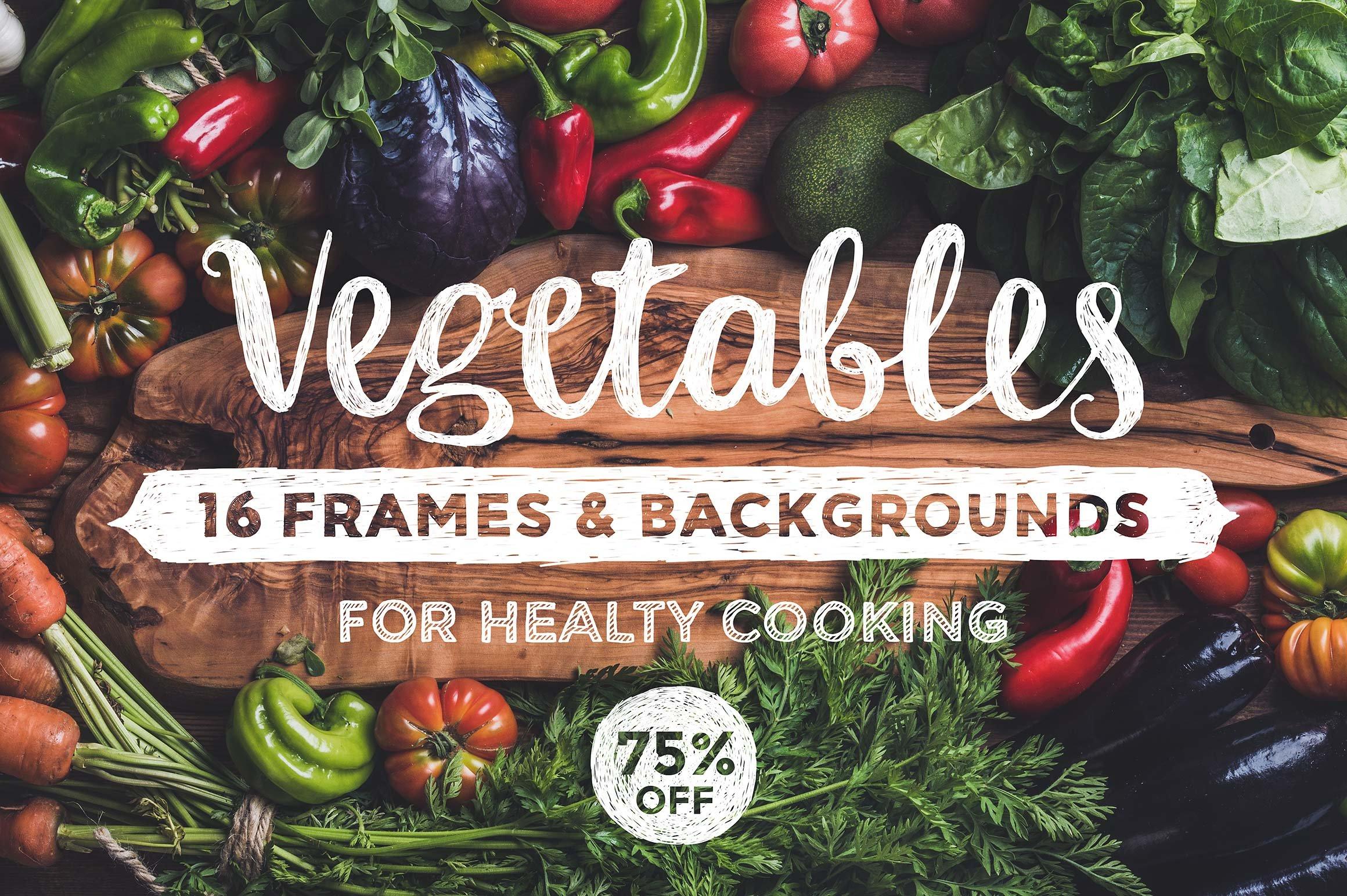 vegetables frames and backgrounds