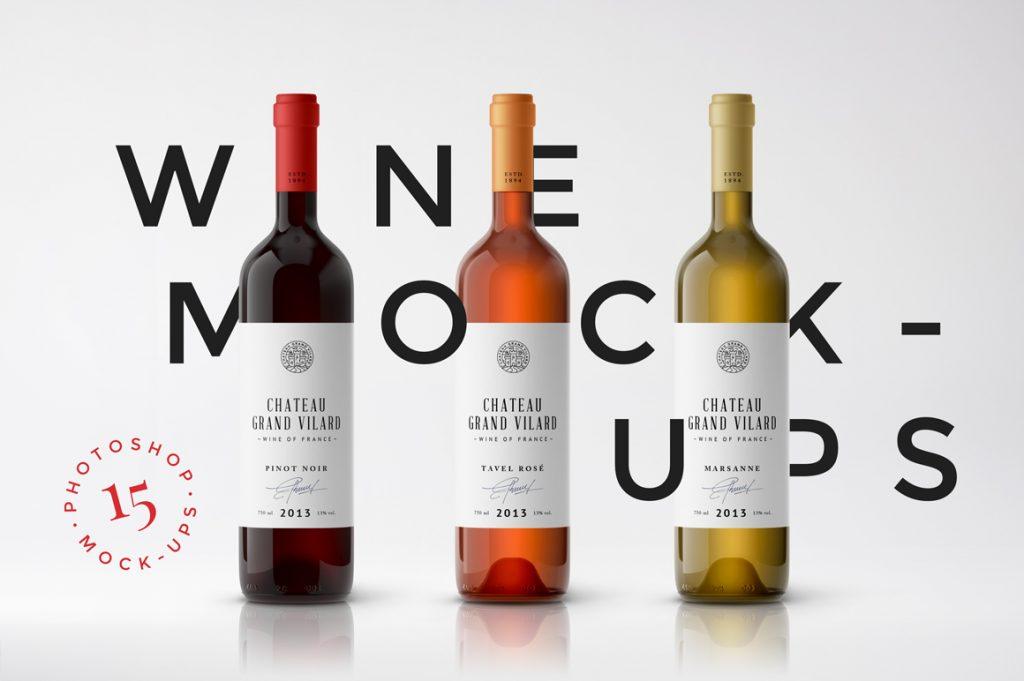 wine photo mockup