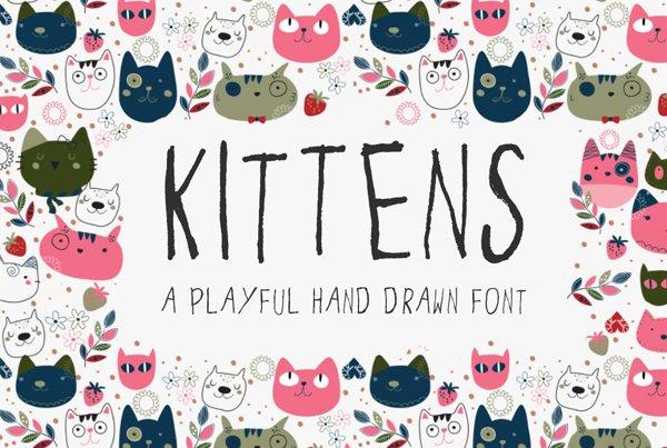 Kittens – a hand drawn font