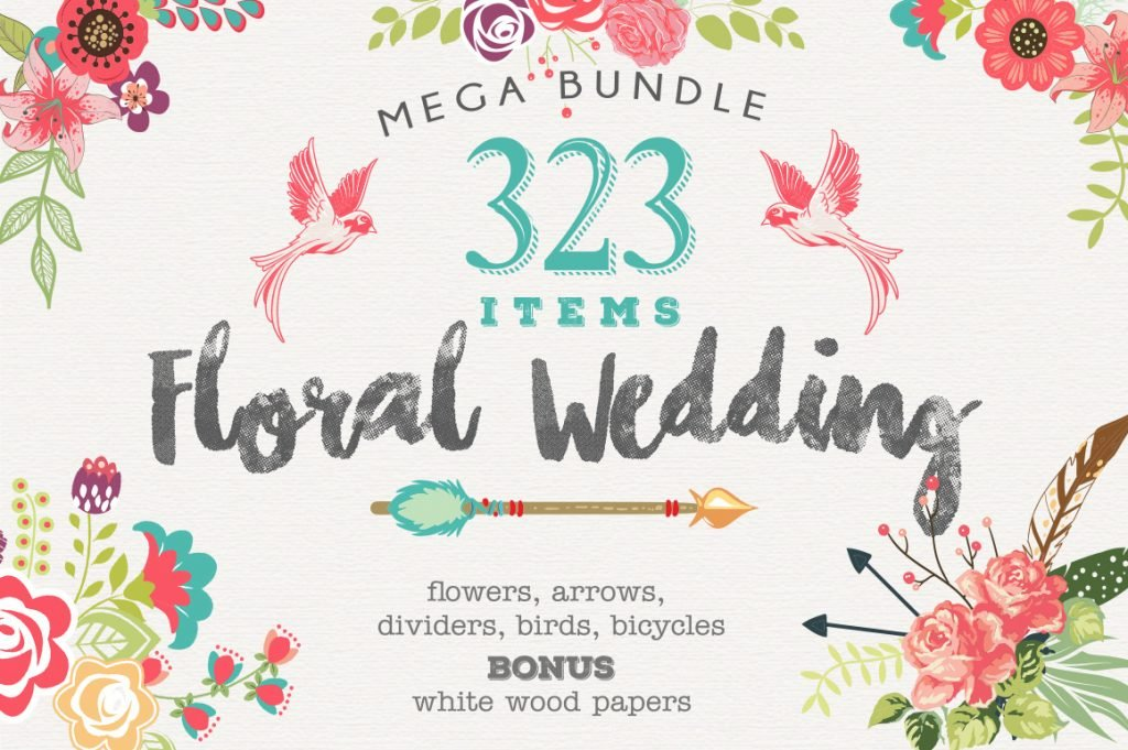 floral wedding set