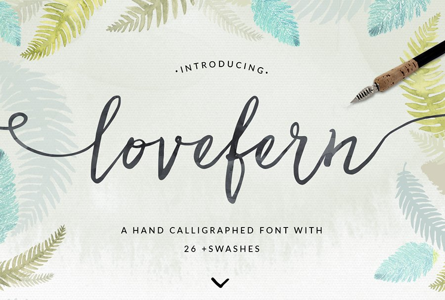 hand painted font