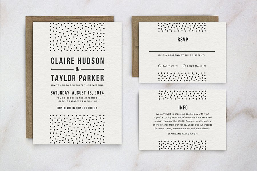 Wedding Invitation Template Suite Graphic Designer From London